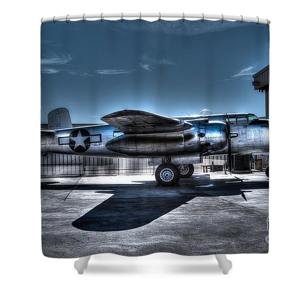 Mitchell B-25J Shower Curtain by Tommy Anderson
