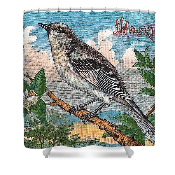 Mocking Bird Shower Curtain by Studio Artist