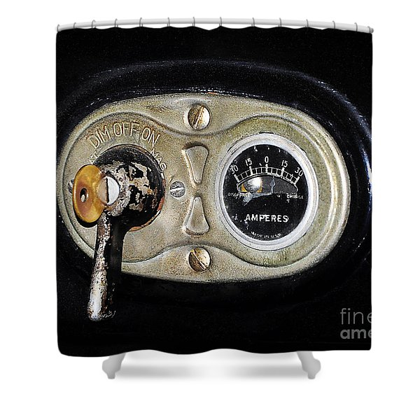 Model T Control Panel Shower Curtain by Al Powell Photography USA
