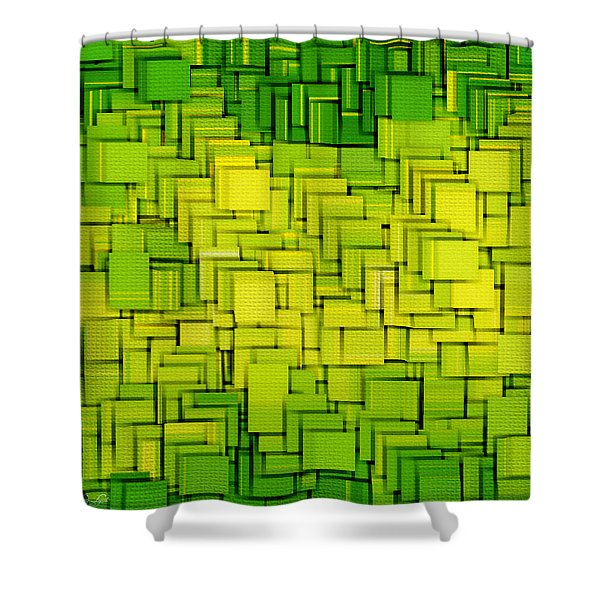 Modern Abstract XXXIII Shower Curtain by Lourry Legarde