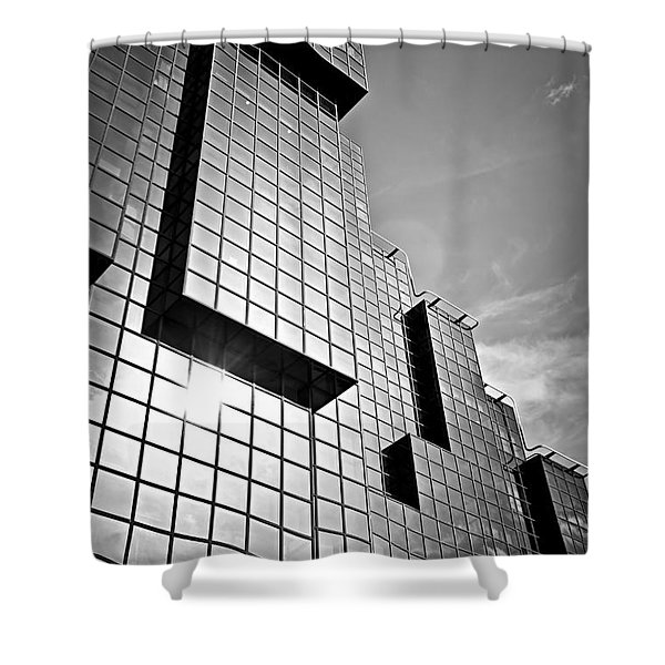 Modern glass building Shower Curtain by Elena Elisseeva