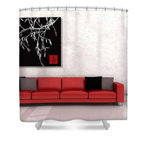 Modern Zen Design Shower Curtain by Andrea Kollo