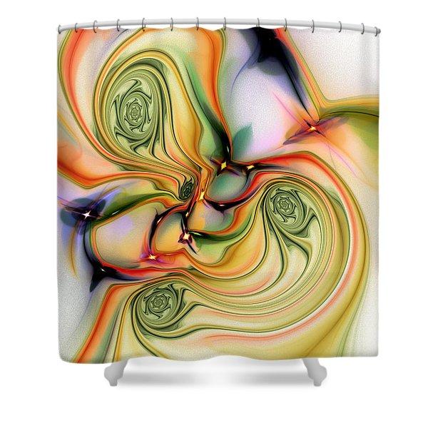 Moirai Shower Curtain by Anastasiya Malakhova