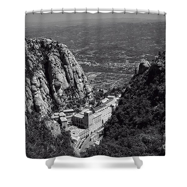 Monastery in the Valley Shower Curtain by Ivy Ho