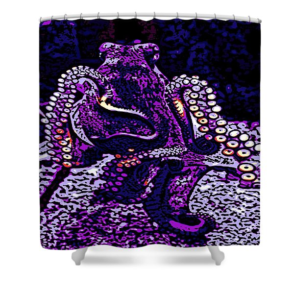 Monster of the Deep Shower Curtain by George Pedro