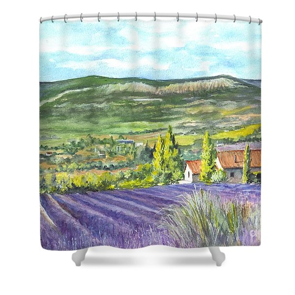 Montagne De Lure In Provence France Shower Curtain by Carol Wisniewski