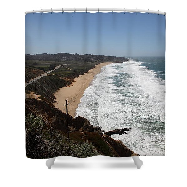 Montara State Beach Pacific Coast Highway California 5d22624 Shower Curtain by Wingsdomain Art and Photography