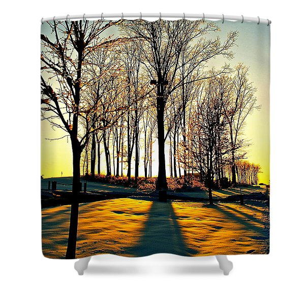 Mood Lighting Shower Curtain by Frozen in Time Fine Art Photography