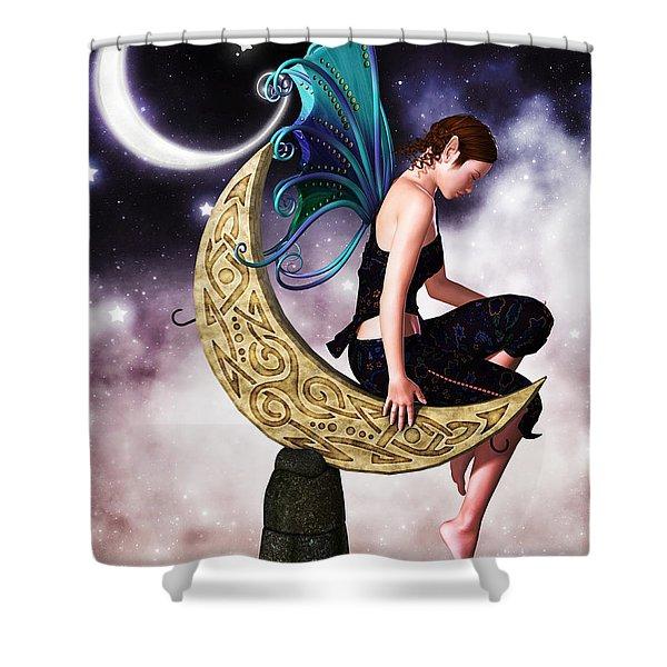 Moon Fairy Shower Curtain by Alexander Butler