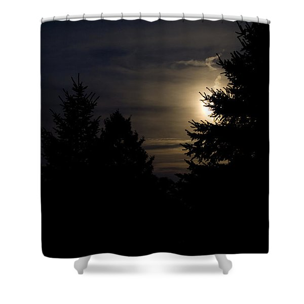 Moon Rising 02 Shower Curtain by Thomas Woolworth