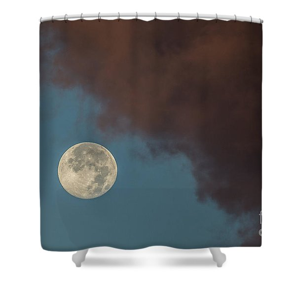 Moon Transition from Night to Day Shower Curtain by Rene Triay Photography