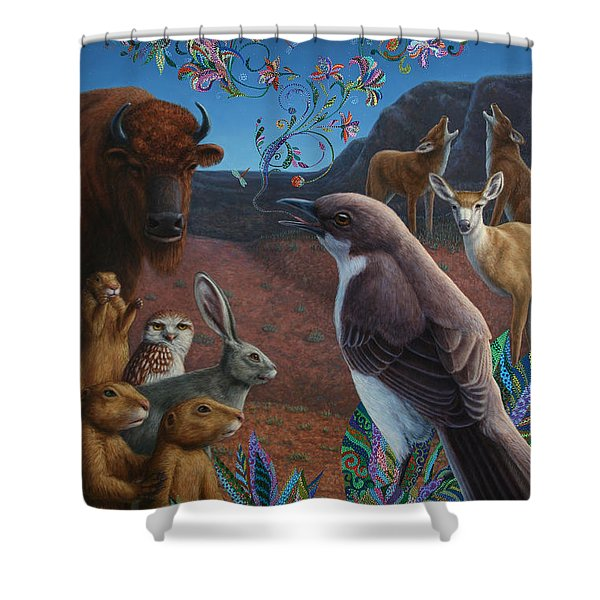 Moonlight Cantata Shower Curtain by James W Johnson