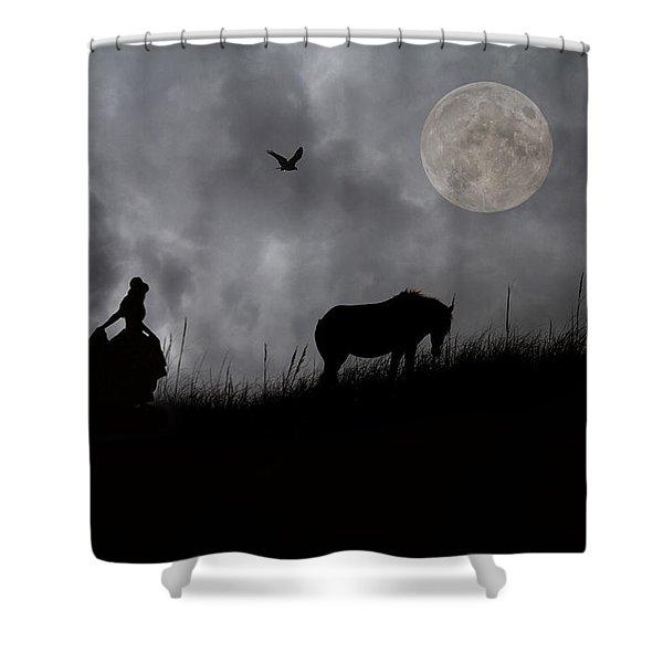 Moonlight Walk Shower Curtain by Betsy C  Knapp