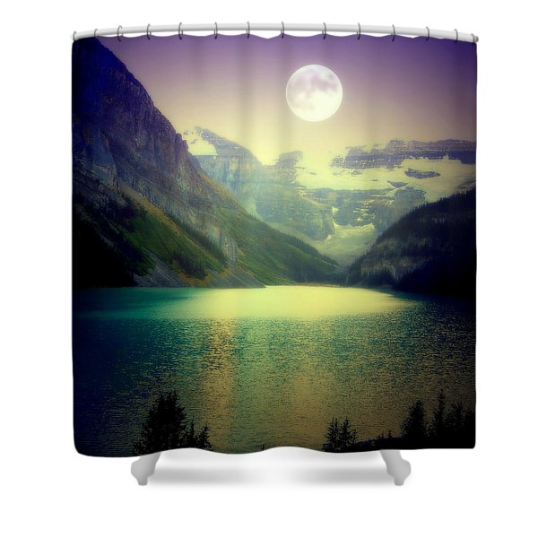 Moonlit Encounter Shower Curtain by Karen Wiles