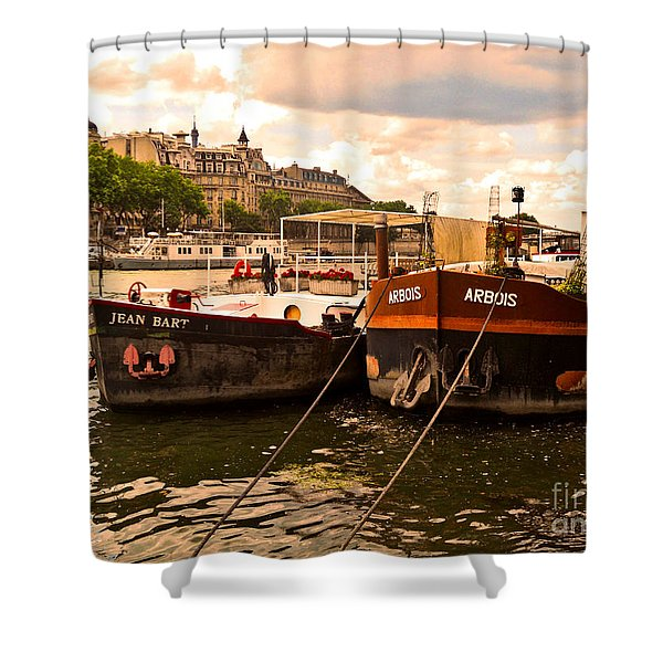 Moored Shower Curtain by Lauren Hunter
