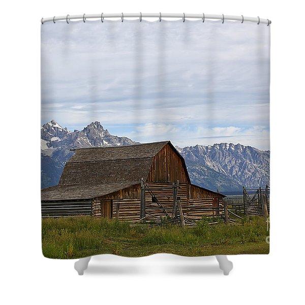 Mormon Row Barn Grand Teton Np  Shower Curtain by Teresa Zieba