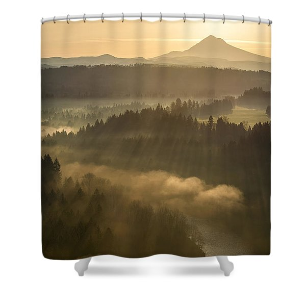 Morning Has Broken Shower Curtain by Lori Grimmett