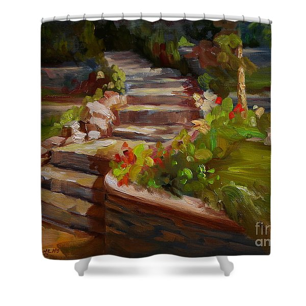 Morning Light Shower Curtain by Lisa Phillips Owens