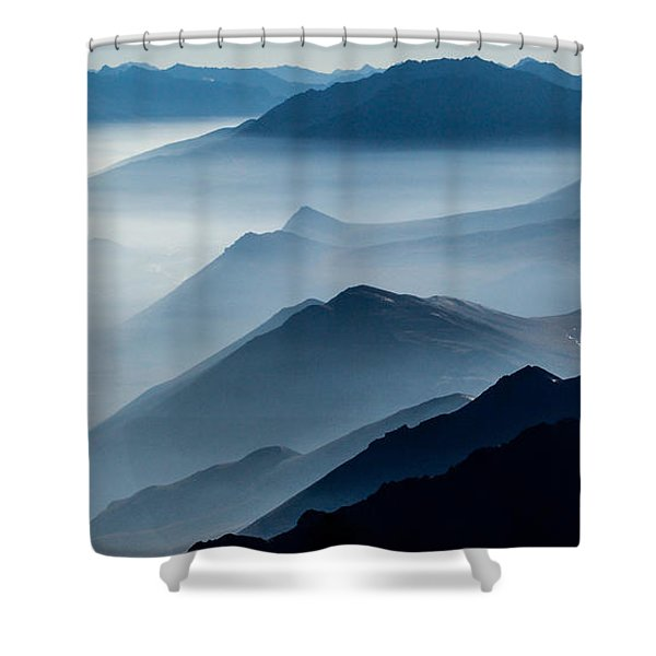 Morning Mist Shower Curtain by Chad Dutson