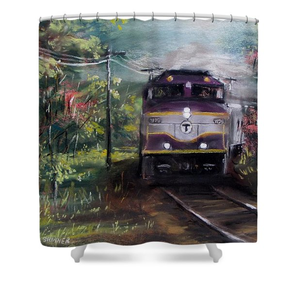 Morning Outbound Shower Curtain by Jack Skinner