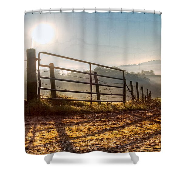 Morning Shadows Shower Curtain by Debra and Dave Vanderlaan