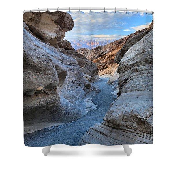 Mosaic Canyon Twilight Shower Curtain by Adam Jewell