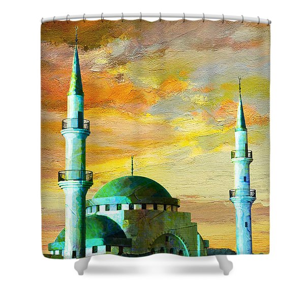 Mosque Jordan Shower Curtain by Catf