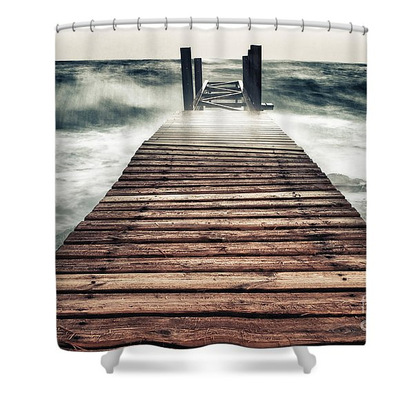 Mother Nature Shower Curtain by Stylianos Kleanthous