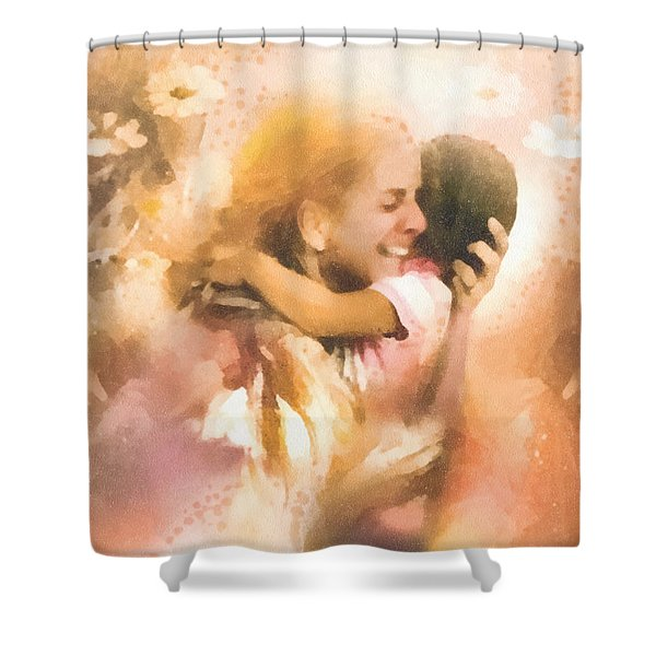 Mother's Arms Shower Curtain by Mo T