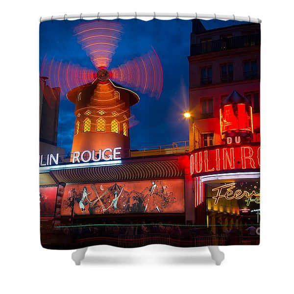Moulin Rouge en Soir Shower Curtain by Inge Johnsson