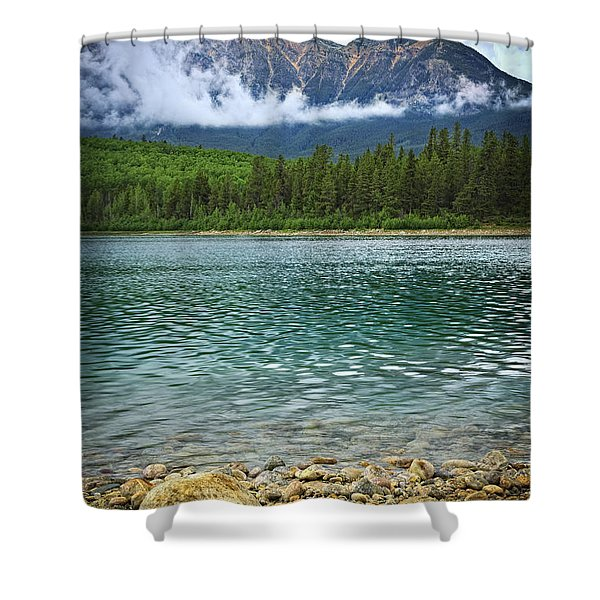 Mountain lake Shower Curtain by Elena Elisseeva