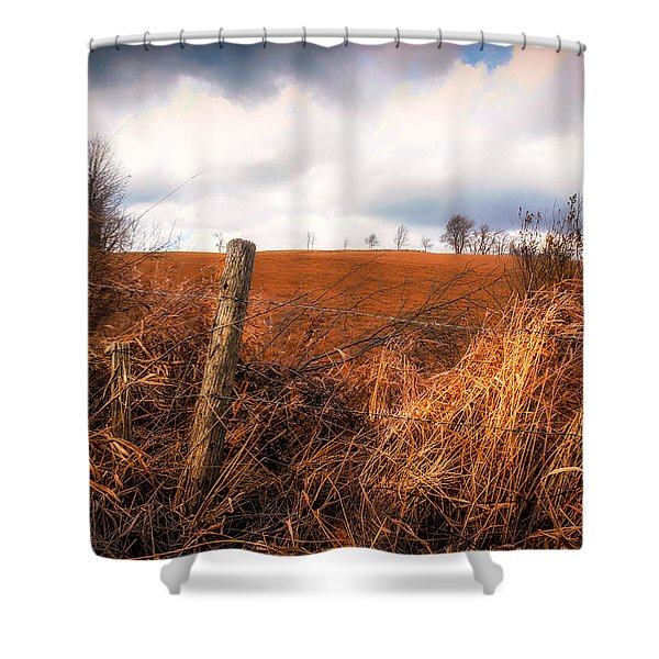 Mountain Pasture Shower Curtain by Bob Orsillo