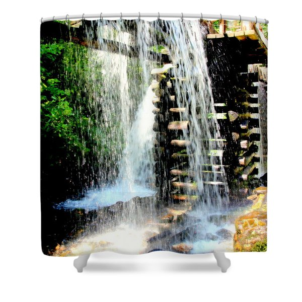 Mountain Waters Shower Curtain by Karen Wiles