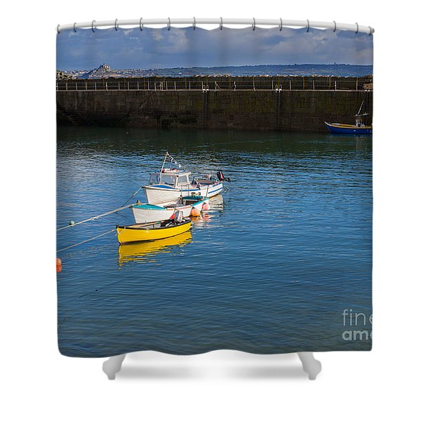 Mousehole Cornwall Shower Curtain by Louise Heusinkveld