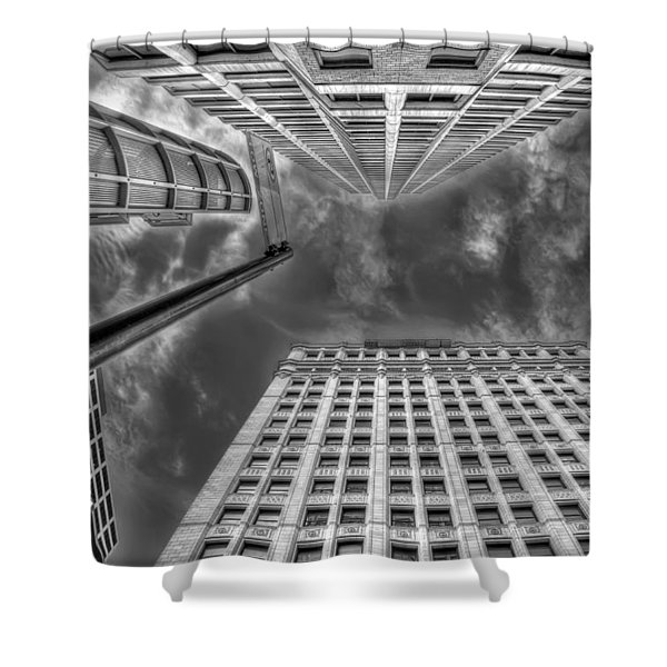 Moving on up Shower Curtain by Scott Norris