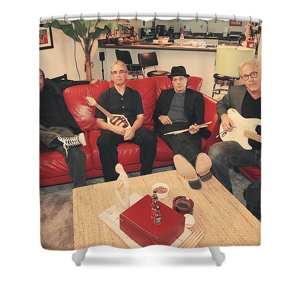 Mr. Chin's Hot Sauce Shower Curtain by Laurie Search