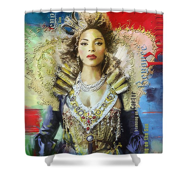 Mrs. Carter Show Art Poster - A Shower Curtain by Corporate Art Task Force