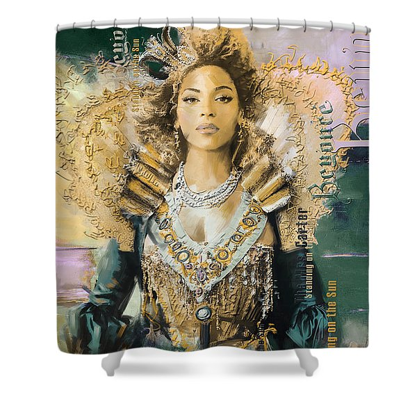 Mrs.Carter Show Poster - B Shower Curtain by Corporate Art Task Force