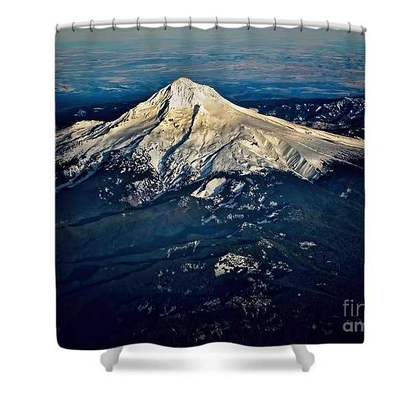 Mt Hood Shower Curtain by Jon Burch Photography