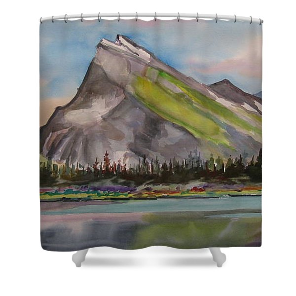 Mt. Rundle Shower Curtain by Mohamed Hirji