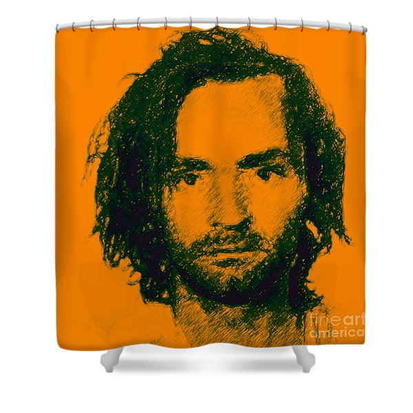Mugshot Charles Manson P0 Shower Curtain by Wingsdomain Art and Photography