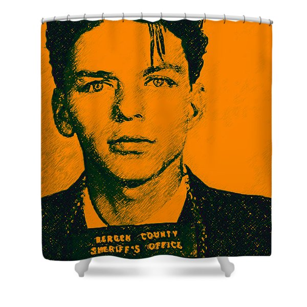Mugshot Frank Sinatra v1 Shower Curtain by Wingsdomain Art and Photography