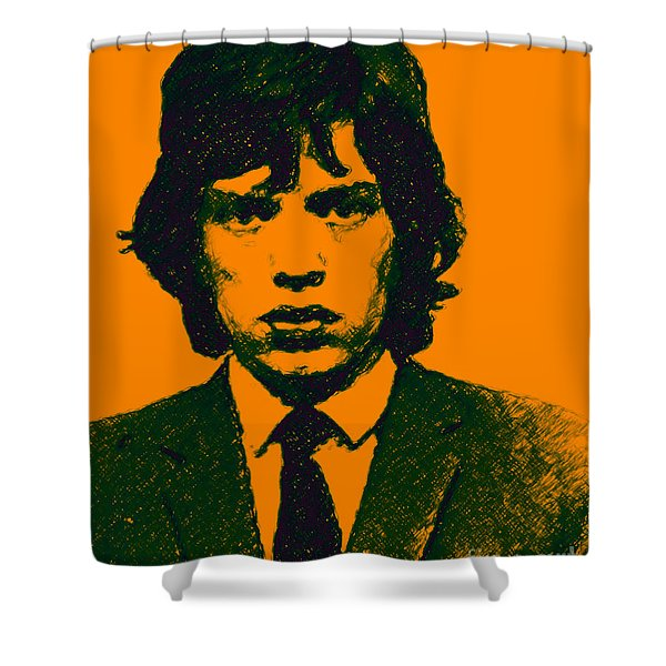 Mugshot Mick Jagger p0 Shower Curtain by Wingsdomain Art and Photography