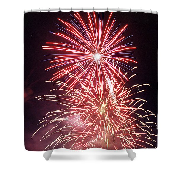 4th of July Fireworks 1 Shower Curtain by Howard Tenke