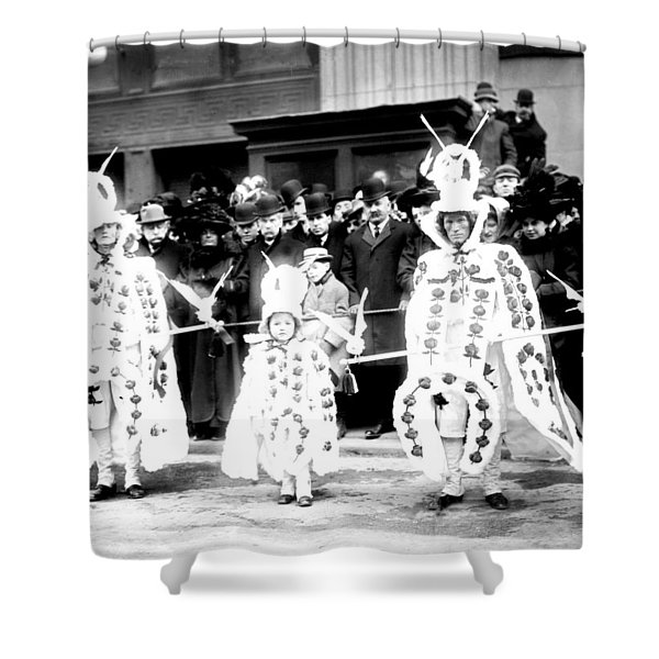 Mummers circa 1909 Shower Curtain by Digital Reproductions