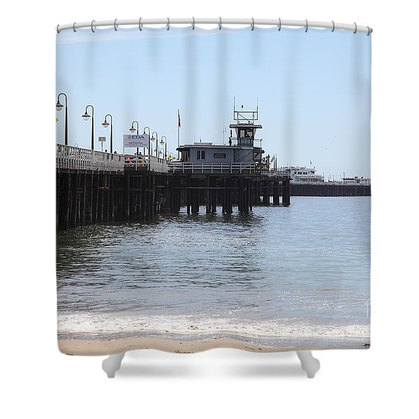 Municipal Wharf At The Santa Cruz Beach Boardwalk California 5D23767 Shower Curtain by Wingsdomain Art and Photography