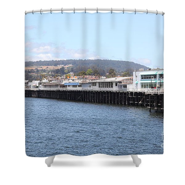 Municipal Wharf At The Santa Cruz Beach Boardwalk California 5d23813 Shower Curtain by Wingsdomain Art and Photography