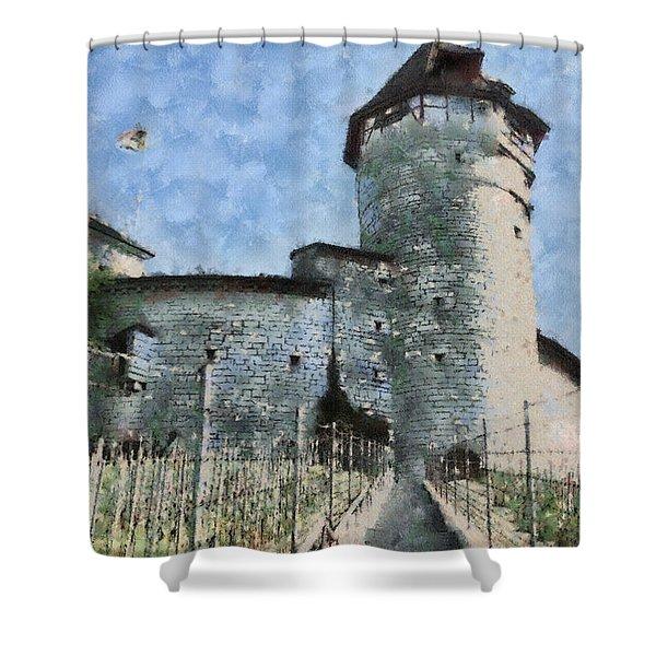 Munot Shower Curtain by Ayse Deniz