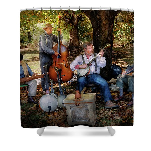 Music Band - The bands back together again  Shower Curtain by Mike Savad