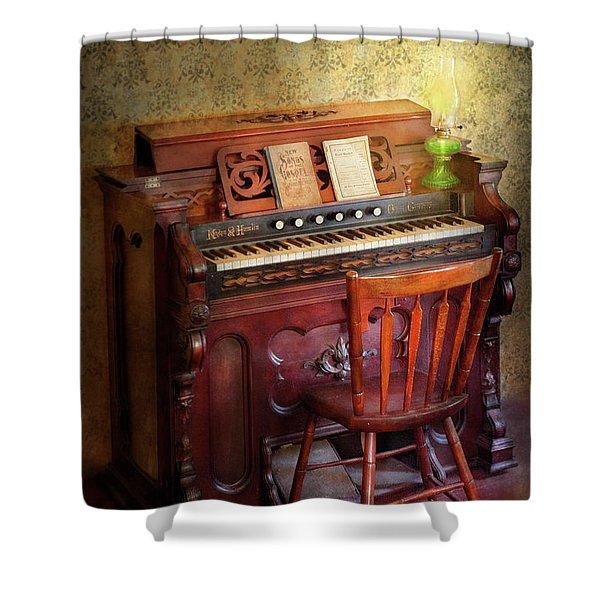 Music - Organist - Playing the songs of the gospel  Shower Curtain by Mike Savad